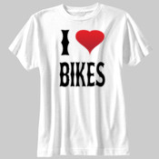 I Heart Bikes - SubliVie Youth  Polyester T-Shirt